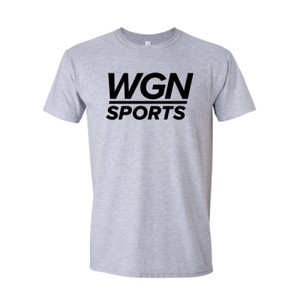 Men's Heather Gray WGN Sports T-shirt