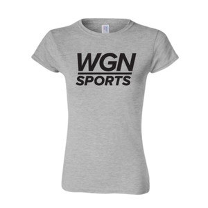 Women's Heather Gray WGN Sports T-shirt